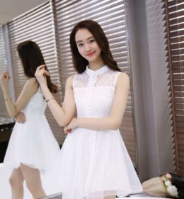 DRESS BROKAT PUTIH IMPORT CANTIK 2017 ELEGANT