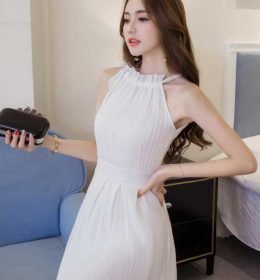 DRESS PUTIH CANTIK IMPORT ELEGANT 2017 TERBARU