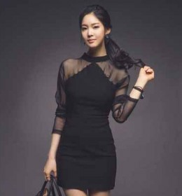 MINI DRESS HITAM ELEGANT TERBARU 2016