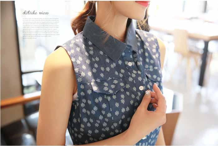 DRESS LENGAN BUNTUNG BIRU TERBARU 2016 KOREA