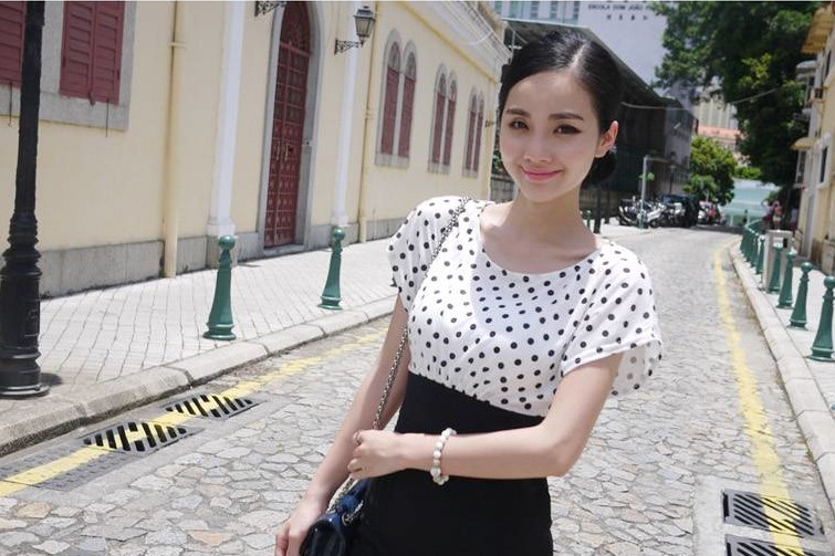 MINI DRESS POLKADOT TERBARU MURAH