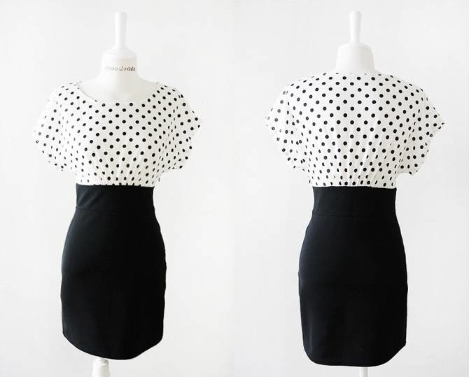 MINI DRESS POLKADOT TERBARU SIMPEL