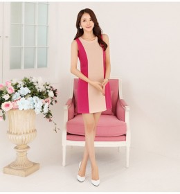 MINI DRESS IMPORT LENGAN BUNTUNG PINK