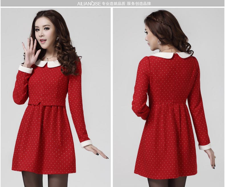 JUAL MINI DRESS MERAH IMPORT POLKADOT 2014