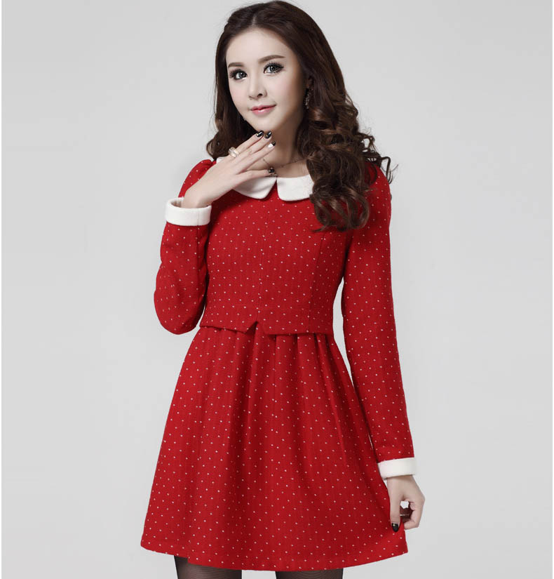 MINI DRESS MERAH IMPORT POLKADOT TERBARU