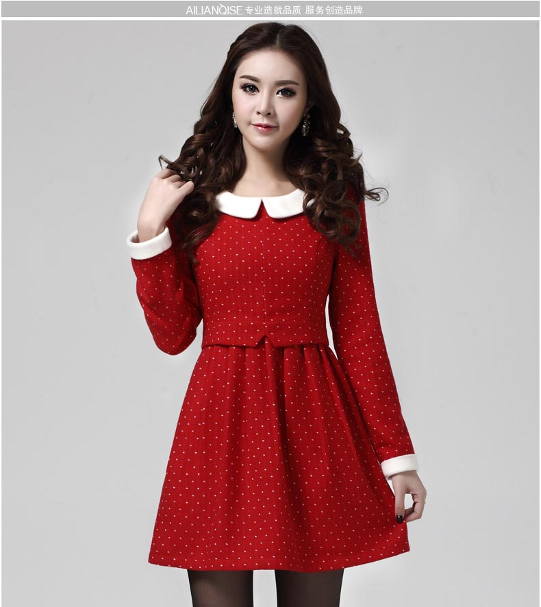 TOKO MINI DRESS MERAH IMPORT POLKADOT