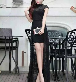 MINI DRESS HITAM SIMPLE SEXY TERBARU