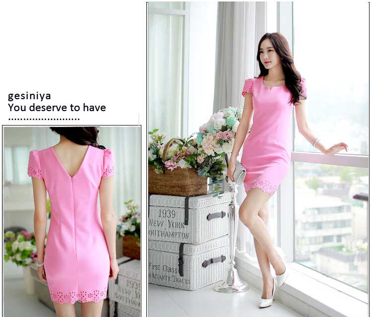 DRESS PINK CANTIK IMPORT KOREA TERBARU FASHION