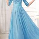 JUAL LONG DRESS GAUN IMPORT BIRU 2016