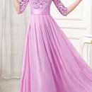 JUAL LONG DRESS GAUN UNGU ONLINE TERBARU