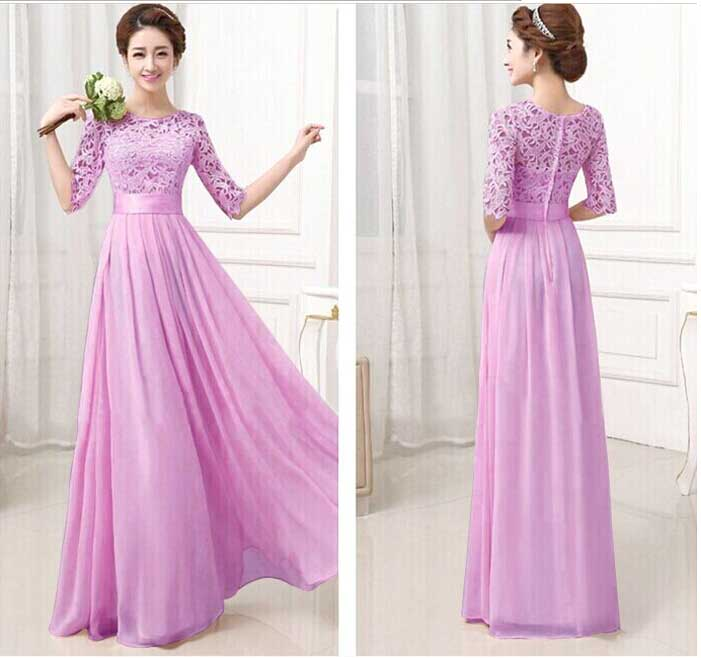 LONG DRESS GAUN UNGU ONLINE TERBARU 2016