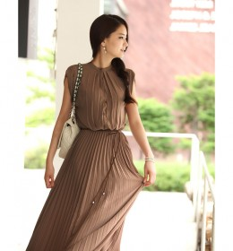 LONG DRESS IMPORT CANTIK COKLAT