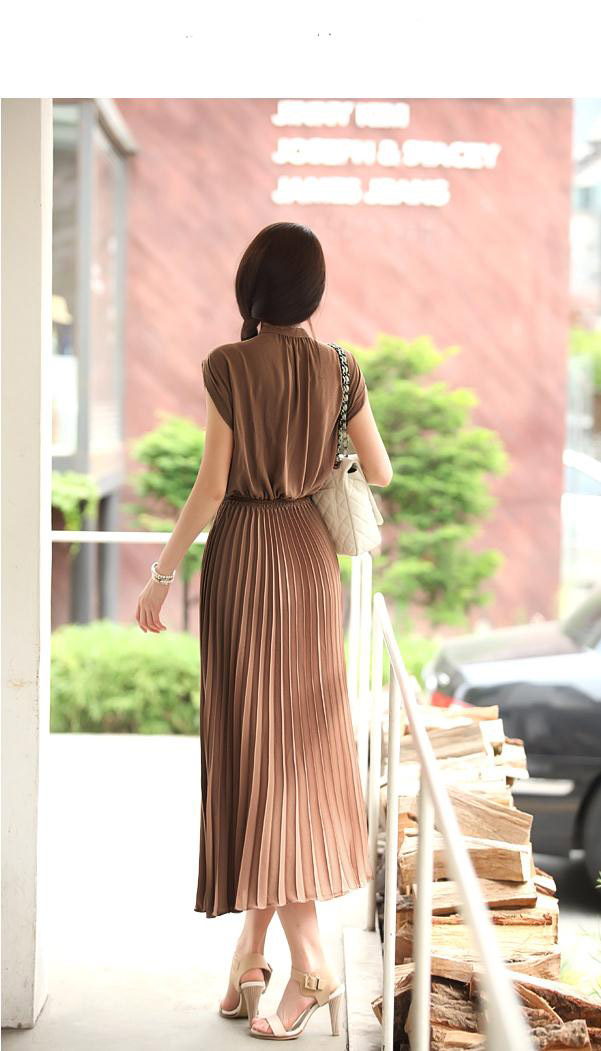 LONG DRESS IMPORT CANTIK COKLAT TERBARU