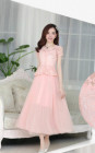LONG DRESS PESTA BROKAT CANTIK