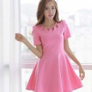 MINI DRESS PINK CANTIK TERBARU 2016 MODIS