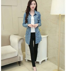 JAKET DENIM PANJANG IMPORT TERBARU 2016 MODIS