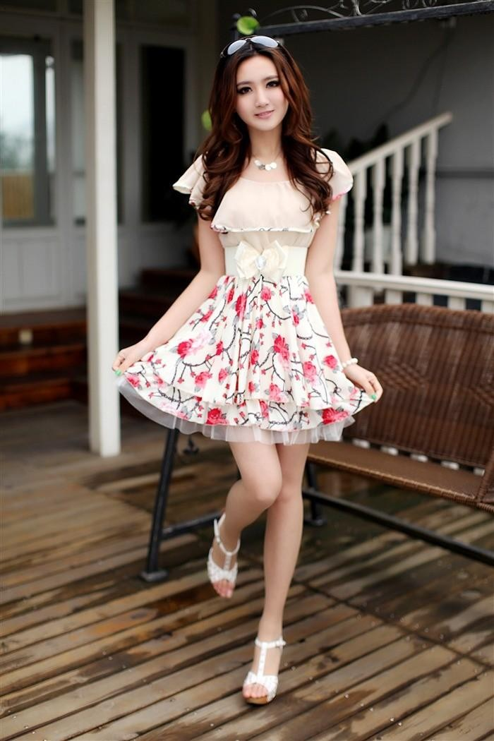 mini dress import cantik bunga model terbaru jual