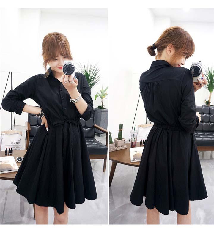 DRESS HITAM LENGAN PANJANG IMPORT ONLINE KOREA