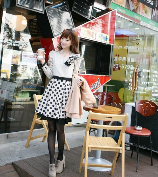 DRESS IMPORT KOREA LENGAN PANJANG CANTIK