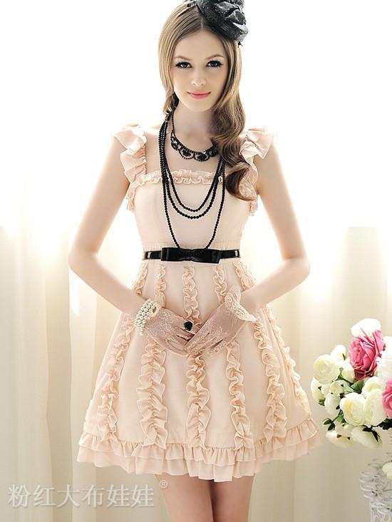 DRESS IMPORT KOREA MOTIF