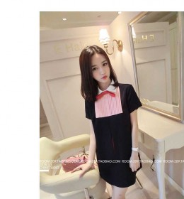 MINI DRESS IMPORT LENGAN PENDEK CANTIK MODIS