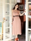 LONG DRESS CANTIK LENGAN BUNTUNG