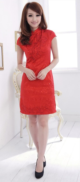 DRESS CHEONGSAM MERAH 2013