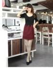 DRESS IMPORT KOREA HITAM LENGAN PENDEK