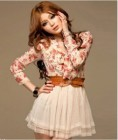 DRESS IMPORT CANTIK LENGAN PANJANG BUNGA
