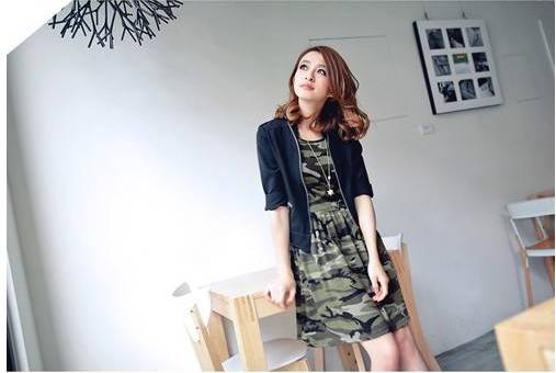 DRESS IMPORT LORENG CANTIK ABU