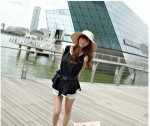 DRESS KOREA SIMPEL PITA PINGGANG