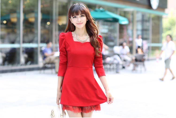 MINI DRESS MERAH NATAL TERBARU 2013