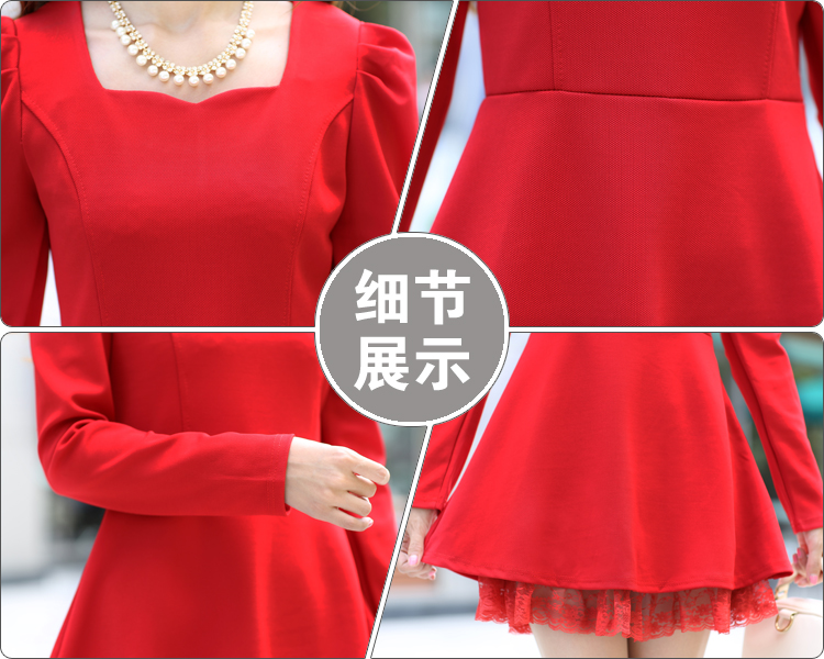 MINI DRESS MERAH NATAL TERBARU CANTIK