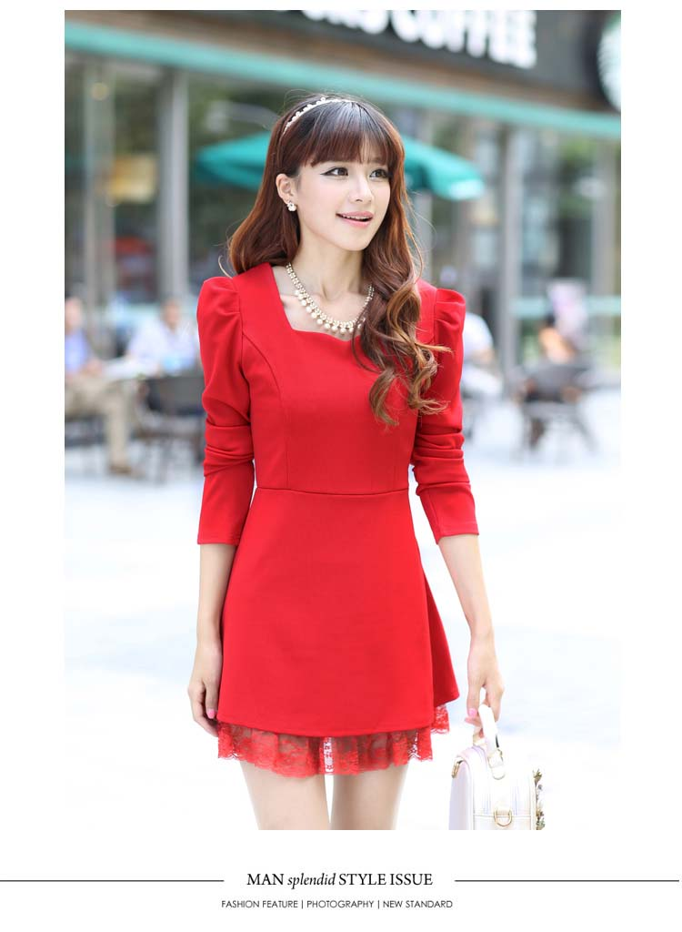 MINI DRESS MERAH NATAL TERBARU LUCU