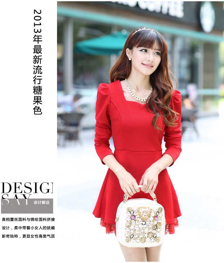 MINI DRESS MERAH NATAL TERBARU MURAH