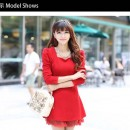MINI DRESS MERAH NATAL TERBARU