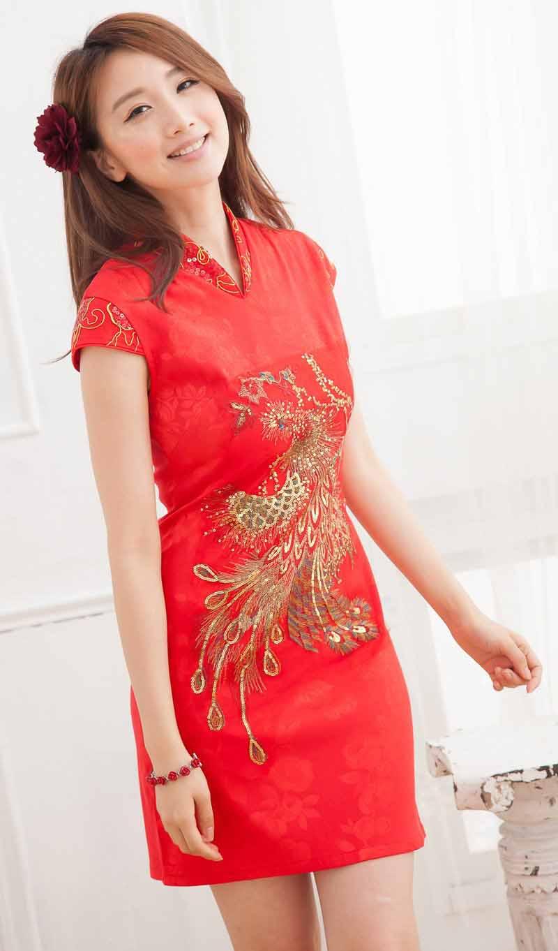 BAJU DRESS CHEONGSAM WANITA IMLEK 2014 MODERN
