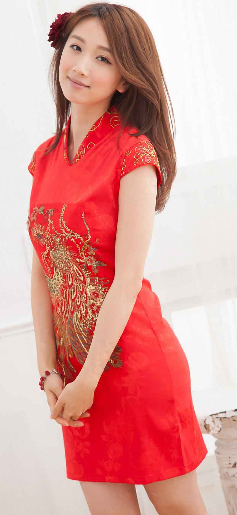 BAJU DRESS CHEONGSAM WANITA IMLEK 2014 MURAH