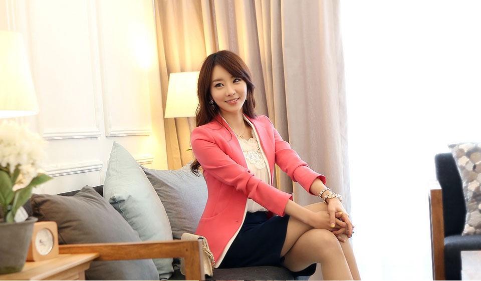 BLAZER WANITA KOREA STYLE CANTIK ONLINE PINK