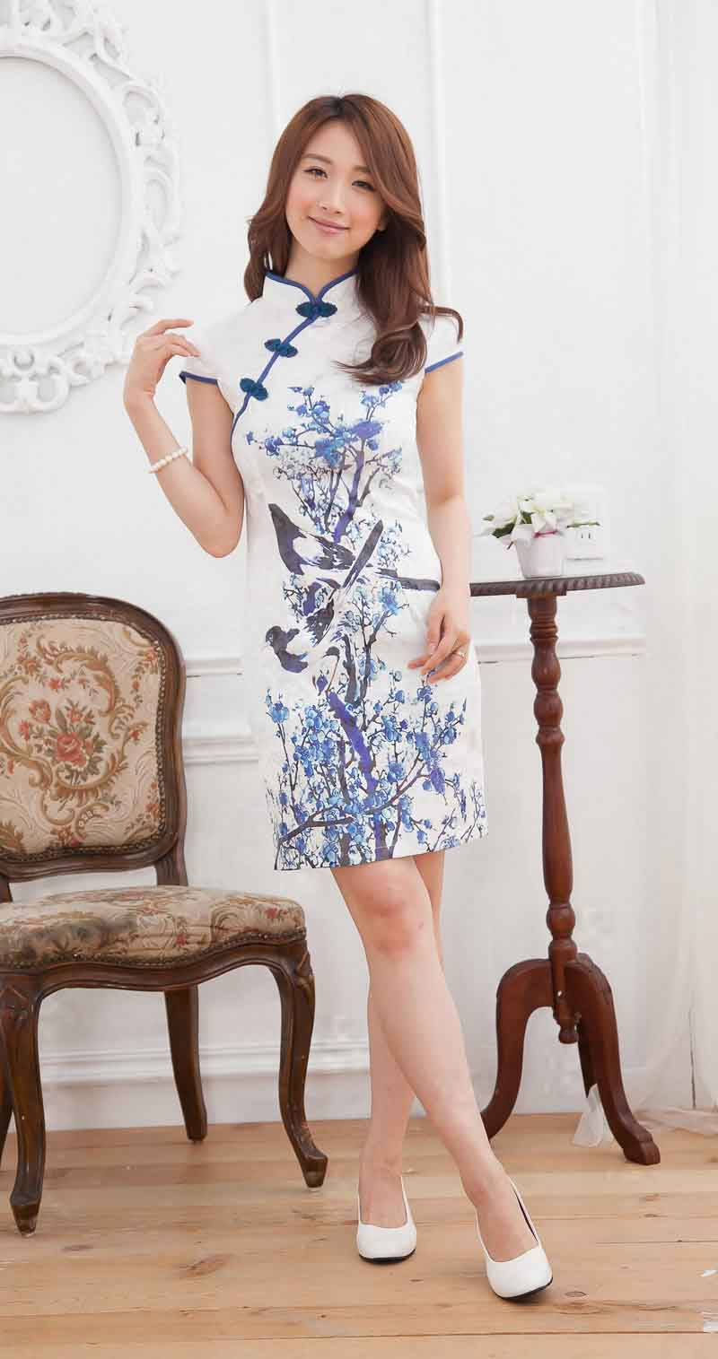 DRESS CHEONGSAM CHINA MODEL TERBARU 2014 PUTIH