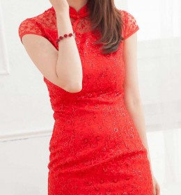 DRESS CHEONGSAM IMLEK SIMPLE TERBARU 2014