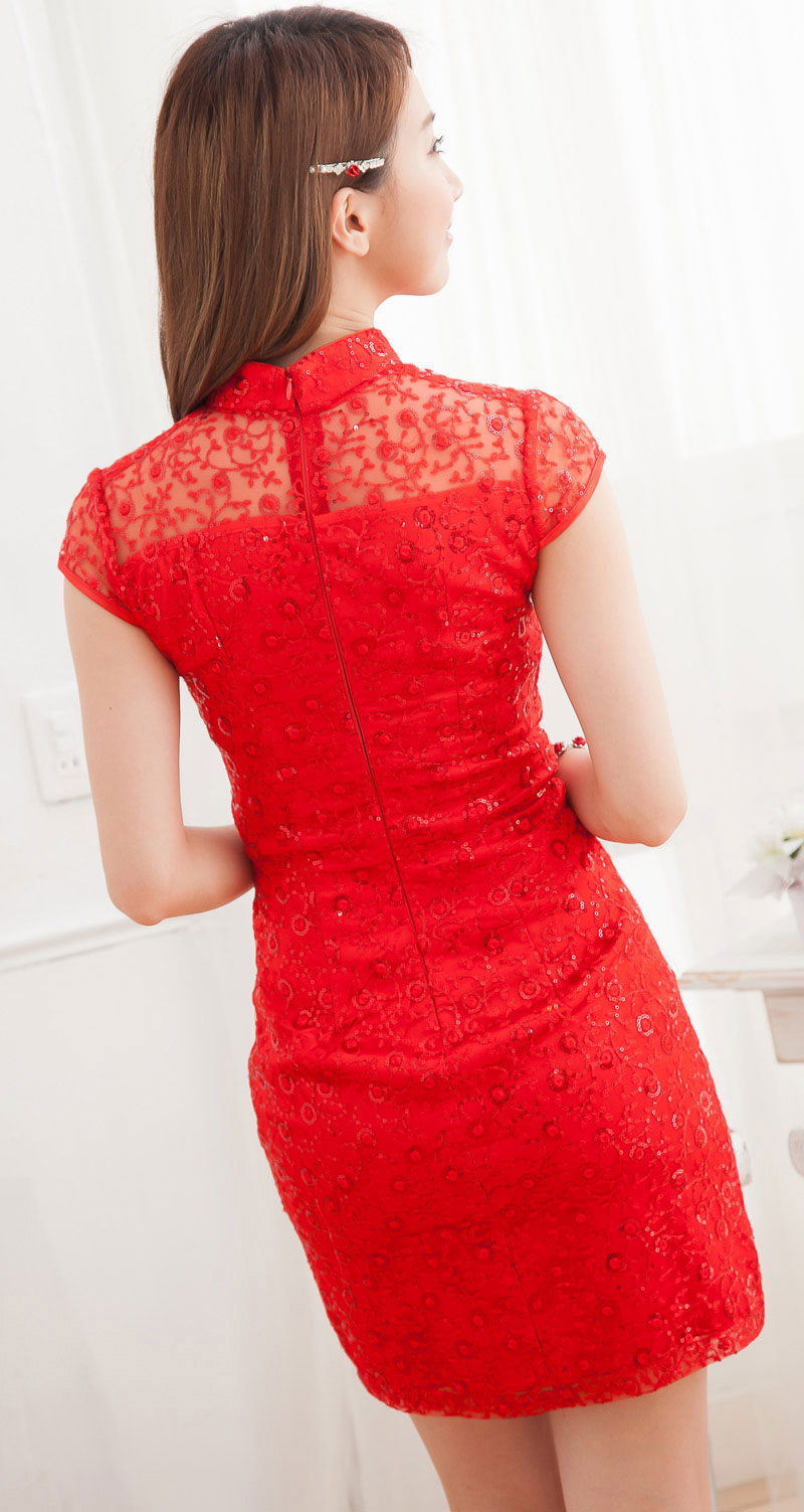 DRESS CHEONGSAM IMLEK SIMPLE TERBARU 2014 MURAH