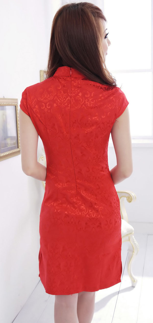 DRESS CHEONGSAM MERAH IMLEK TERBARU 2014