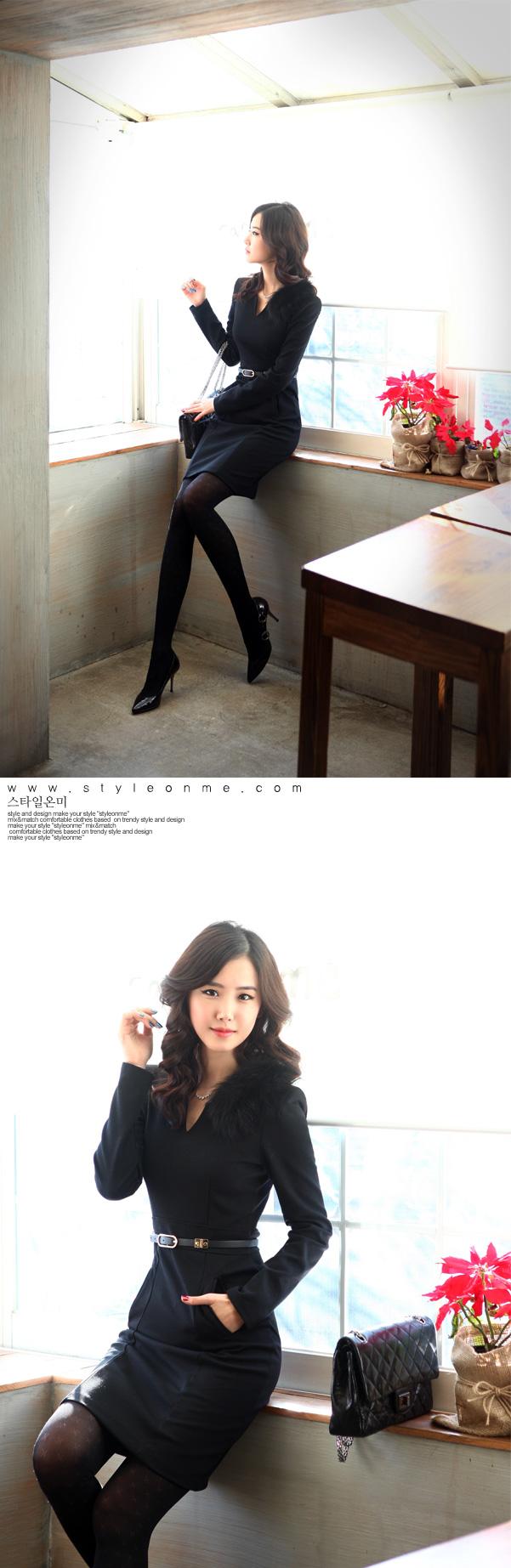 DRESS KOREA MODEL TERBARU 2014 CANTIK