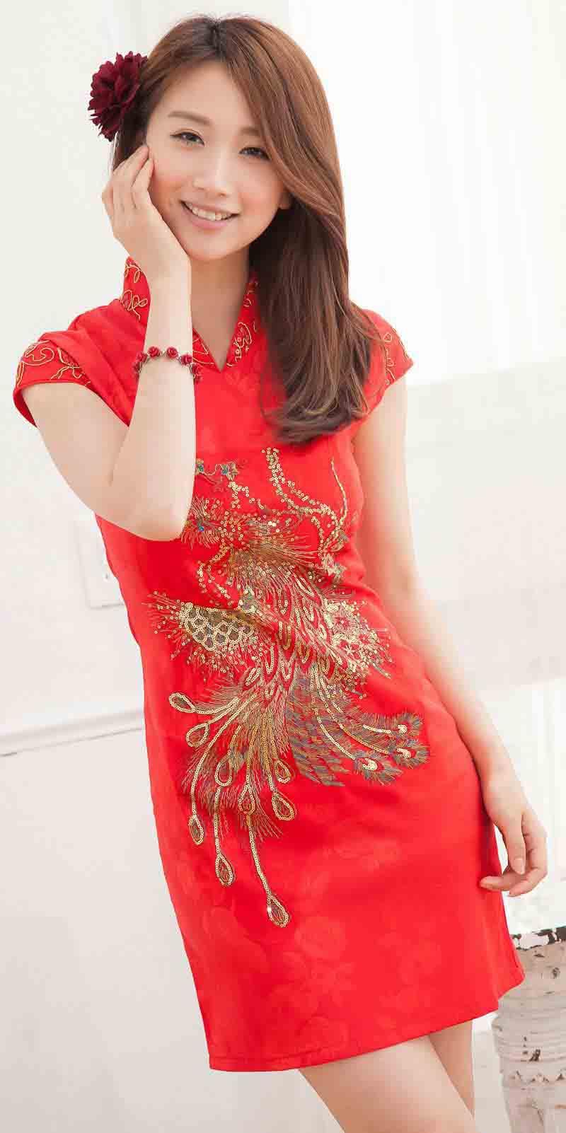 JUAL BAJU DRESS CHEONGSAM WANITA IMLEK 2014