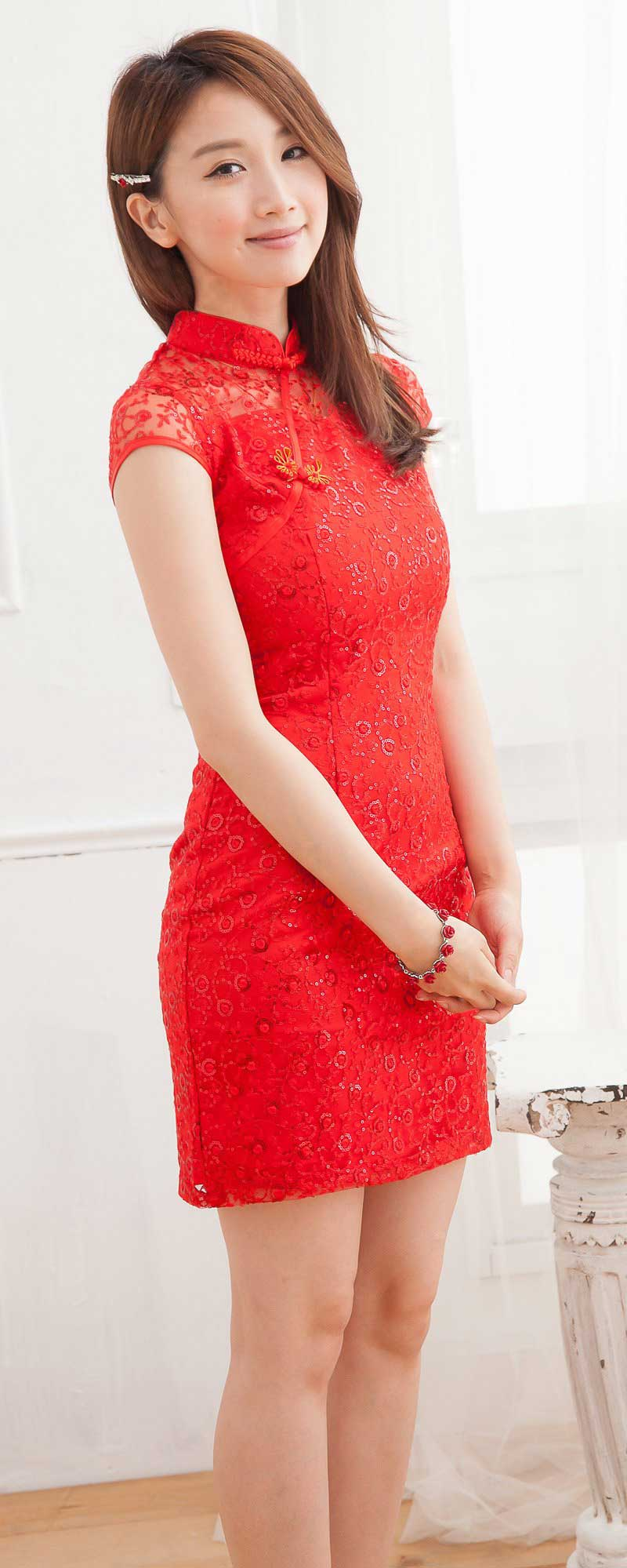 JUAL DRESS CHEONGSAM IMLEK SIMPLE TERBARU 2014