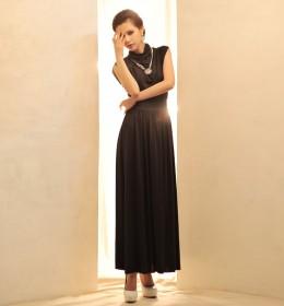 LONG DRESS KOREA PESTA LENGAN BUNTUNG TERBARU