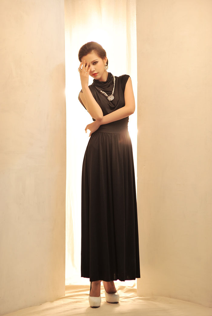 LONG DRESS KOREA PESTA LENGAN BUNTUNG TERBARU IMPORT