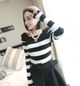 BLOUSE WANITA KOREA HITAM PUTIH SIMPLE