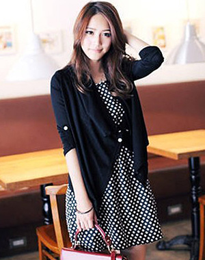 DRESS IMPORT 2PCS PANJANG HITAM